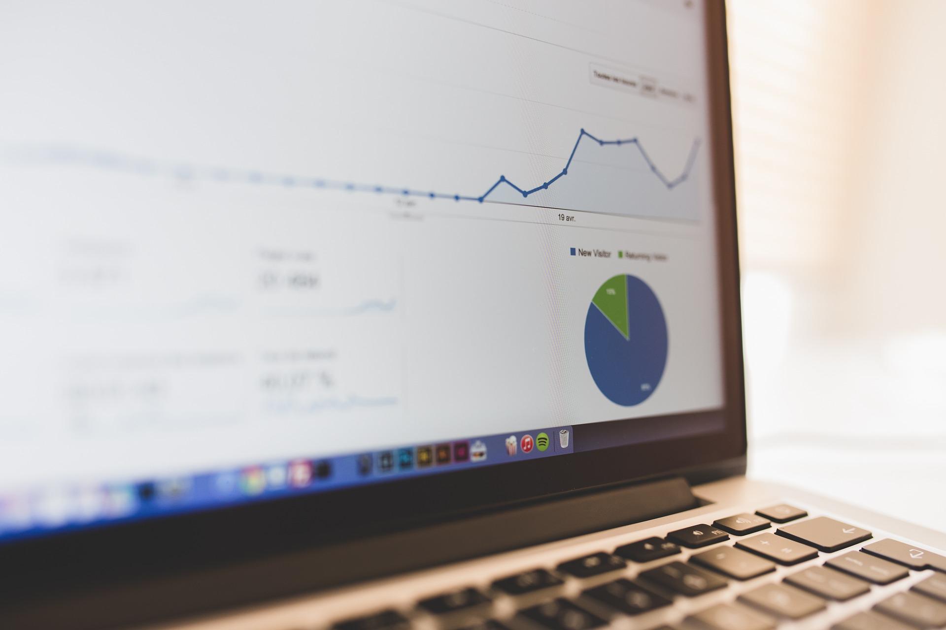 Computer with analytics data