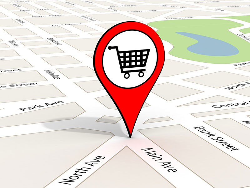 Store pinpoint in a map