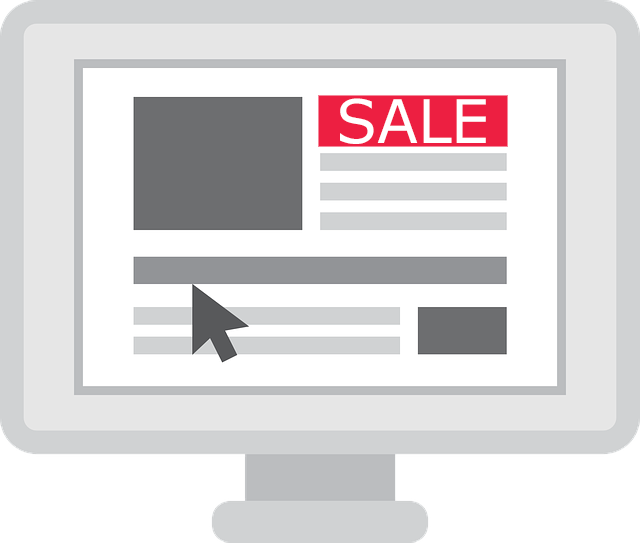 Sale Banner on Computer