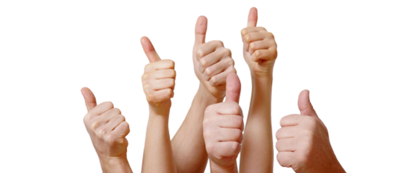 People giving the thumbs up.