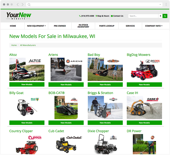 custom website for dealers like you ari network services