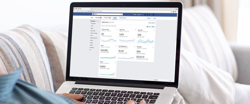 Person Using Facebook Analytics to Track the Changes Coming to Facebook